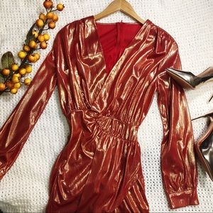 Dresses & Skirts - Mini Party Dress Sleeves small V neck Long Sleeve